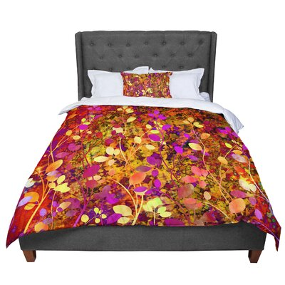 Ebi Emporium Amongst the Flowers Warm Sunset Comforter Size: Twin