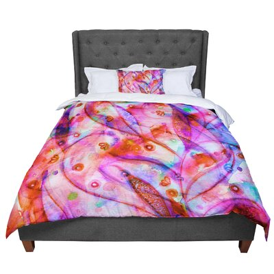 Ebi Emporium Flourish Floral Comforter Size: Queen, Color: Purple