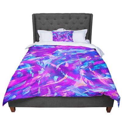 Ebi Emporium Motley Flow 2 Comforter Size: King, Color: Purple/Blue