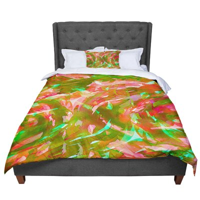 Ebi Emporium Motley Flow 2 Comforter Size: King, Color: Green/Red