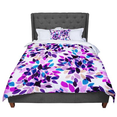 Ebi Emporium Dahlia Dots 2 Comforter Size: Queen, Color: Pink/Purple