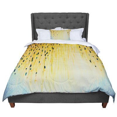 Ebi Emporium Mystic Garden 4 Comforter Size: Queen, Color: Yellow/Blue
