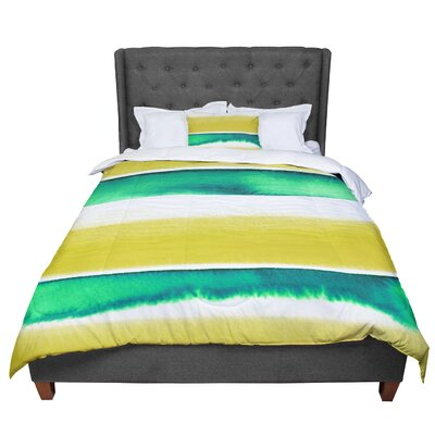 Ebi Emporium Summer Vibes 4 Comforter Size: King, Color: Yellow/Green