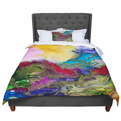 Ebi Emporium Bring on Bohemia 4 Rainbow Comforter Size: Twin, Color: Teal/Yellow