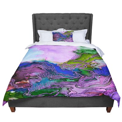 Ebi Emporium Bring on Bohemia 4 Rainbow Comforter Size: Queen, Color: Blue/Purple