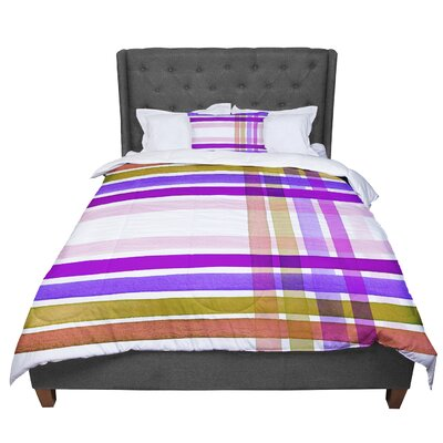 Ebi Emporium Plaid Stripes 6 Comforter Size: Queen