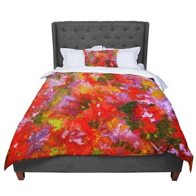 Jeff Ferst Summer Garden Floral Painting Comforter Size: King