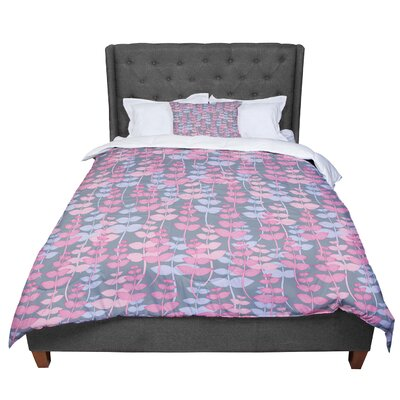 Julia Grifol My Leaves Garden Comforter Size: Queen
