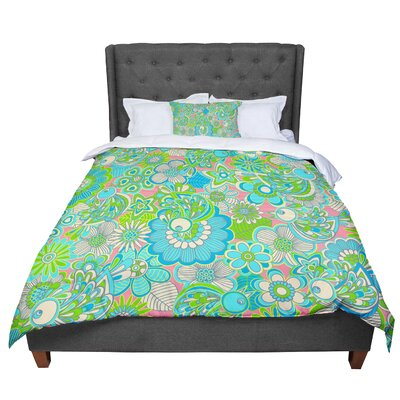 Julia Grifol Welcome Birds To My Garden Comforter Size: Queen
