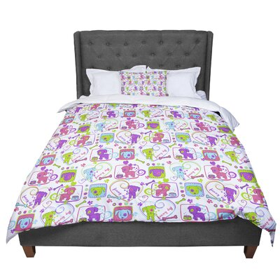 Julia Grifol My Loving Dogs Comforter Size: Twin