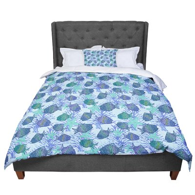 Julia Grifol My Fishes Comforter Size: King