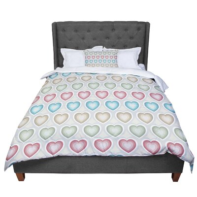 Julia Grifol My Hearts Comforter Size: Twin