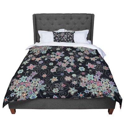 Julia Grifol My Small Flowers Floral Comforter Size: Queen