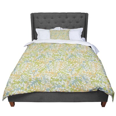 Julia Grifol Warm Tropical Leaves Comforter Size: King