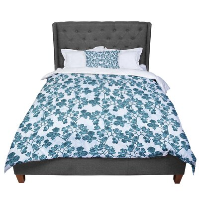 Julia Grifol Flowers Comforter Size: King