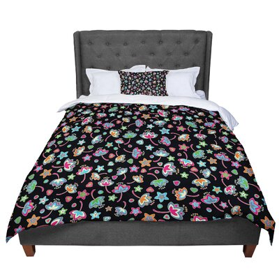 Julia Grifol Sweet Flowers Comforter Size: Queen