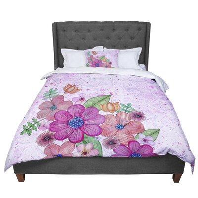 Julia Grifol My Garden Floral Comforter Size: Twin