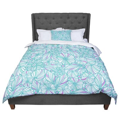 Julia Grifol My Flowers Comforter Size: King