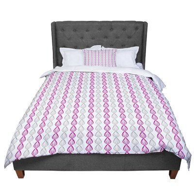 Julie Hamilton Lemon Pod Comforter Size: Twin, Color: Purple/Gray
