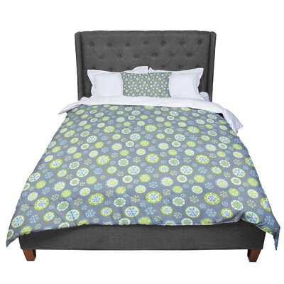 Julie Hamilton Snowflake Slate Winter Comforter Size: King