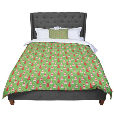 Julie Hamilton Juniper Christmas Trees Comforter Size: Queen