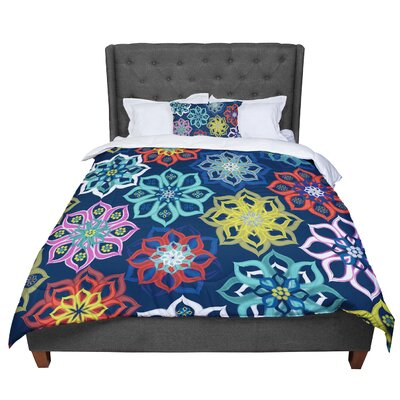 Jolene Heckman Multi Flowers Comforter Size: King