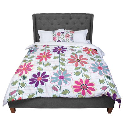 Jolene Heckman Fall Flowers Floral Comforter Size: Twin