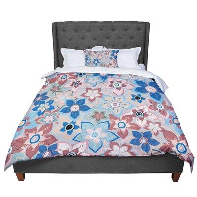 Jolene Heckman Marsala Floral Mix Comforter Size: King