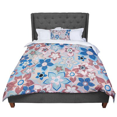 Jolene Heckman Marsala Floral Mix Comforter Size: Twin