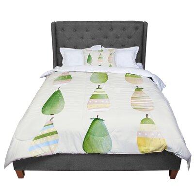 Judith Loske Happy Pears Comforter Size: King