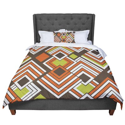Jacqueline Milton Luca - Comforter Size: King, Color: Brown/Orange