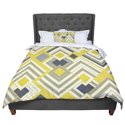 Jacqueline Milton Luca - Comforter Size: King, Color: Yellow/Gray