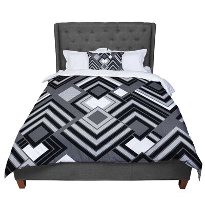 Jacqueline Milton Luca - Comforter Size: Queen, Color: Black/White