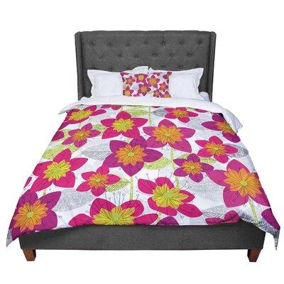 Jacqueline Milton Star Flower Floral Comforter Size: Queen