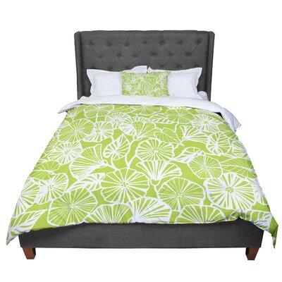 Jacqueline Milton Vine Shadow - Lime Floral Comforter Size: King