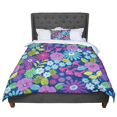 Jacqueline Milton Lula - Comforter Size: King, Color: Purple/Blue