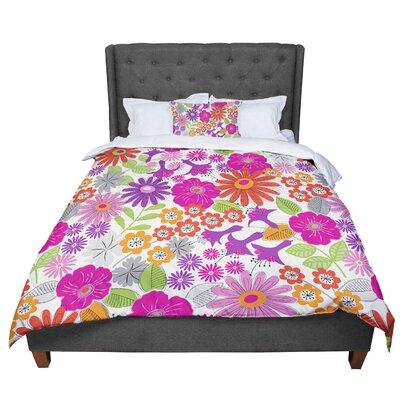 Jacqueline Milton Lula - Comforter Size: King, Color: Pink/White