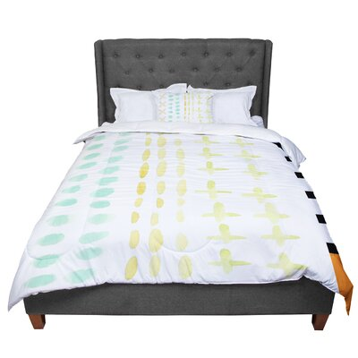 Jennifer Rizzo Dots and Dashes Comforter Size: King