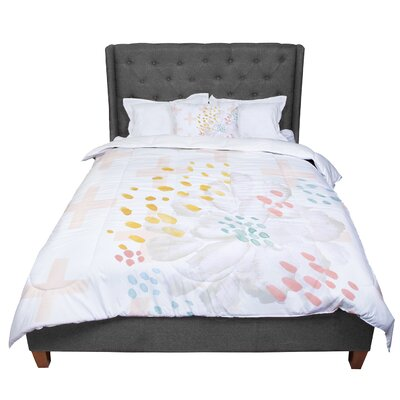 Jennifer Rizzo Bright and Pretty Coral Floral Comforter Size: Twin