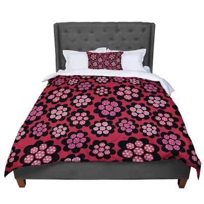 Jane Smith Garden Pods Repeat Floral Comforter Size: King
