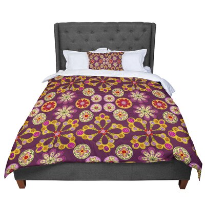 Jane Smith Indian Jewelry Floral Comforter Size: Queen
