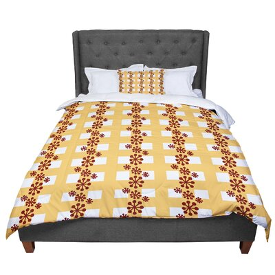Jane Smith Mushroom Repeat Comforter Size: King