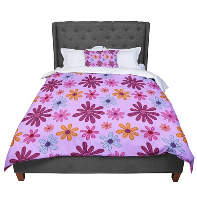 Jane Smith Woodland Floral Flowers Comforter Size: King