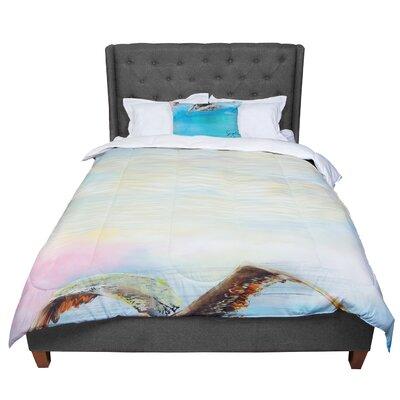 Josh Serafin Coast Ocean Bird Comforter Size: King