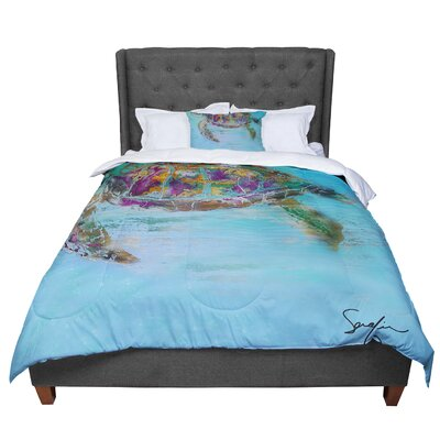 Josh Serafin Mommy Turtle Comforter Size: Queen