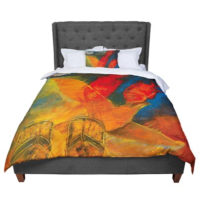 Josh Serafin Whats Beneath My Fish Seagull Comforter Size: Twin