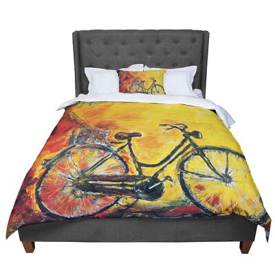 Josh Serafin To Go Bicycle Comforter Size: Queen