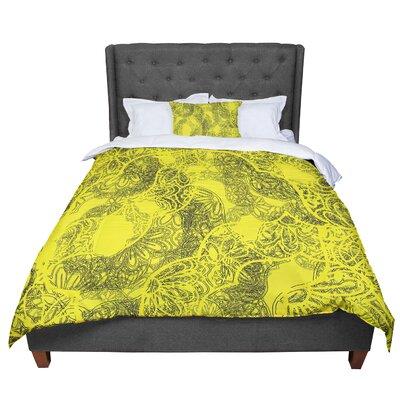 Patternmuse Mandala Lemon Comforter Size: King