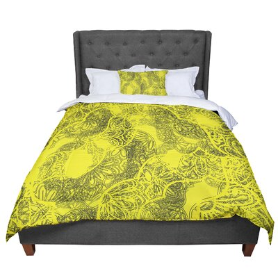Patternmuse Mandala Lemon Comforter Size: Twin