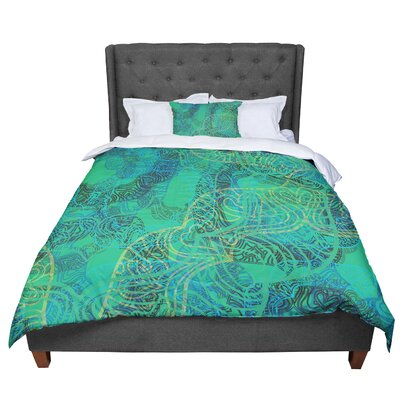 Patternmuse Mandala Mint Abstract Comforter Size: King